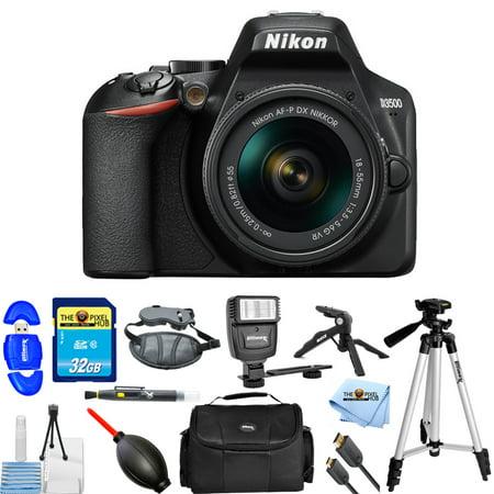 Nikon D3500 24.2MP DSLR Camera with 18-55mm VR Lens #1590 PRO BUNDLE