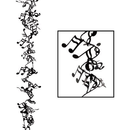 Music Note Garland - Halloween Garland Black