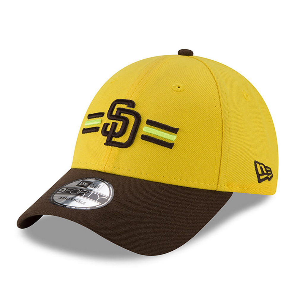 San Diego Padres New Era 2018 Players' Weekend 9FORTY Adjustable Hat - Yellow/Brown - OSFA