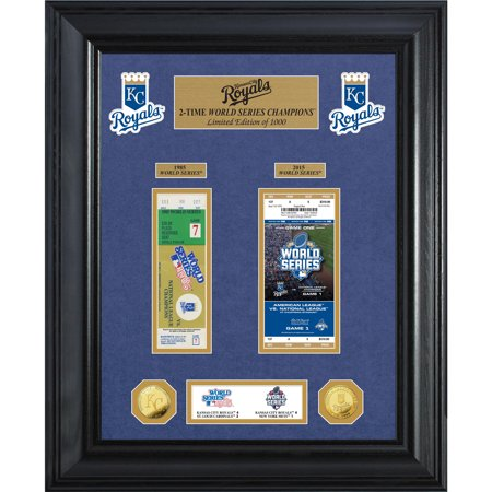 "Kansas City Royals Highland Mint 18"" x 22"" 2-Time World Series Champions Deluxe Coin & Ticket Collection Photo Mint - No Size"