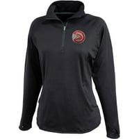 Atlanta Hawks Women's Rhinestone 1/4 Zip Jacket - Black