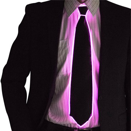 Wire Tie Flashing Cosplay LED Tie Costume Necktie Glowing DJ Bar Dance Carnival Party Masks Cool Props - Cool Cosplay Ideas