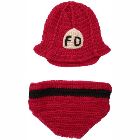 aa43a84a0f99d8 Hand Crocheted Hat & Diaper Cover Set 2 pc Pack - Walmart.com