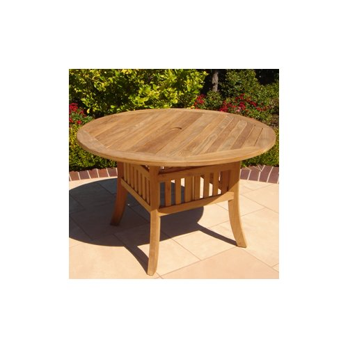 Royal Teak by Lanza Products Teakwood Curved Leg Dining Table