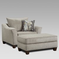 Roundhill Furniture Camero Fabric Pillowback Accent Chair