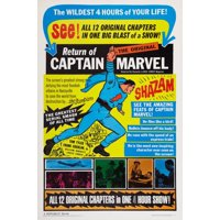 Adventures Of Captain Marvel Stretched Canvas -  (24 x 36)