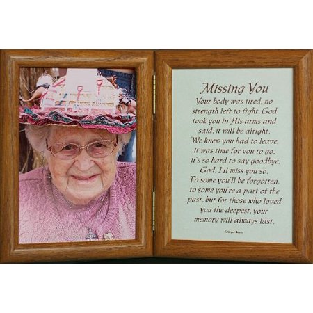 5X7 Missing You ~ Hinged  Frame/Memorial/Bereavement/Condolence/Sympathy/Funeral
