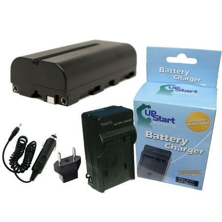 Sony DCR-TRV720 Battery and Charger with Car Plug and EU Adapter - Replacement for Sony NP-F550 Digital Camera Batteries and Chargers (2200mAh, 7.2V, Lithium-Ion) - image 4 de 4