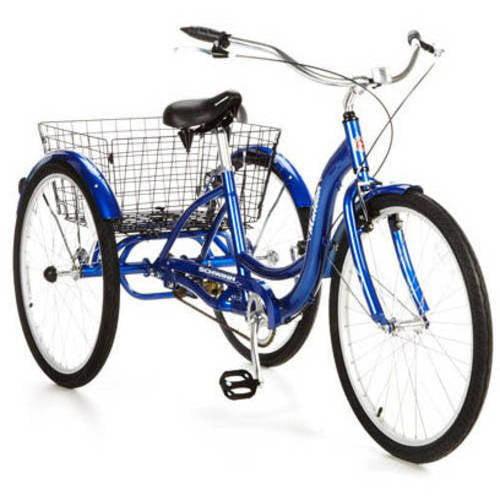 """26"""" Schwinn Meridian Adult Tricycle, Blue"""