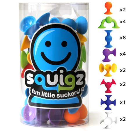 Fat Brain Toys Squigz- Starter Set Building Kit