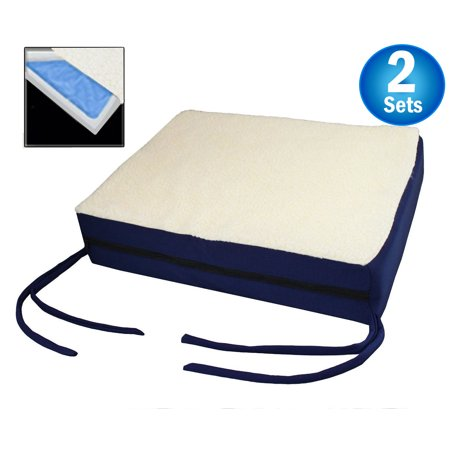 Posey Gel Foam Cushion - Premium Comfy Orthopedic Gel Memory Foam Seat Cushion Pad For Office Chair , Car , Wheelchair & More - Seen On TV (2pc Set)