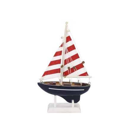 wooden nautical delight model sailboat 9 inch