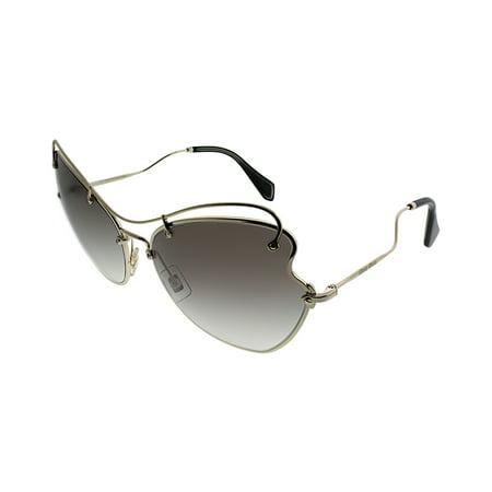 c28bc18070782 MIU MIU - MIU MIU MU56RS ZVN0A7 Pale Gold Butterfly Sunglasses - Walmart.com