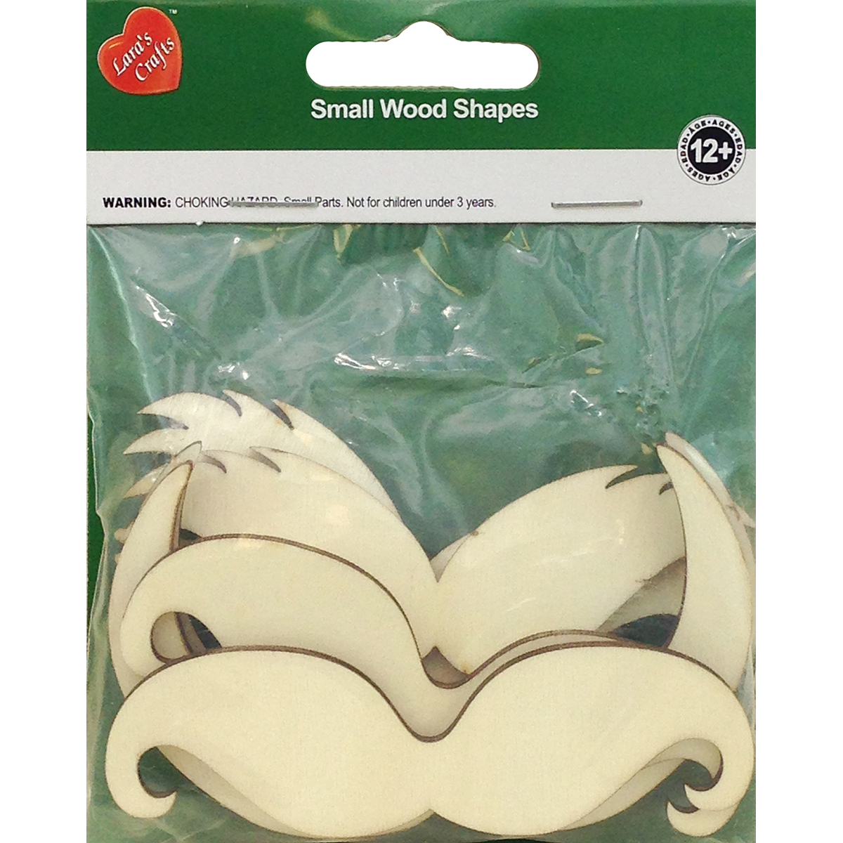Assorted Wood Shapes-Mustaches 8/Pkg