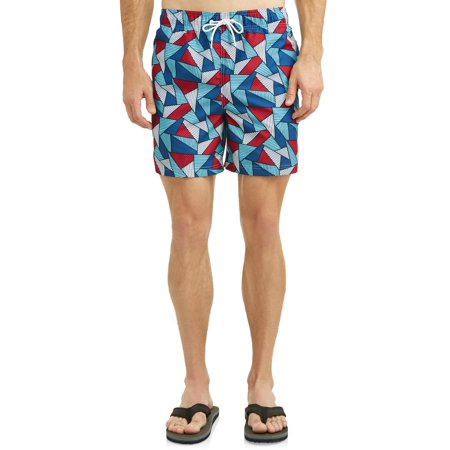 Mens 22 Inch Shorts Charcoal - George Magic Triangle Americana 6-Inch Swim Short, up to Size 5XL
