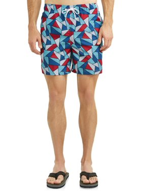 5ba48e8374d Product Image George Magic Triangle Americana 6-Inch Swim Short, up to Size  5XL