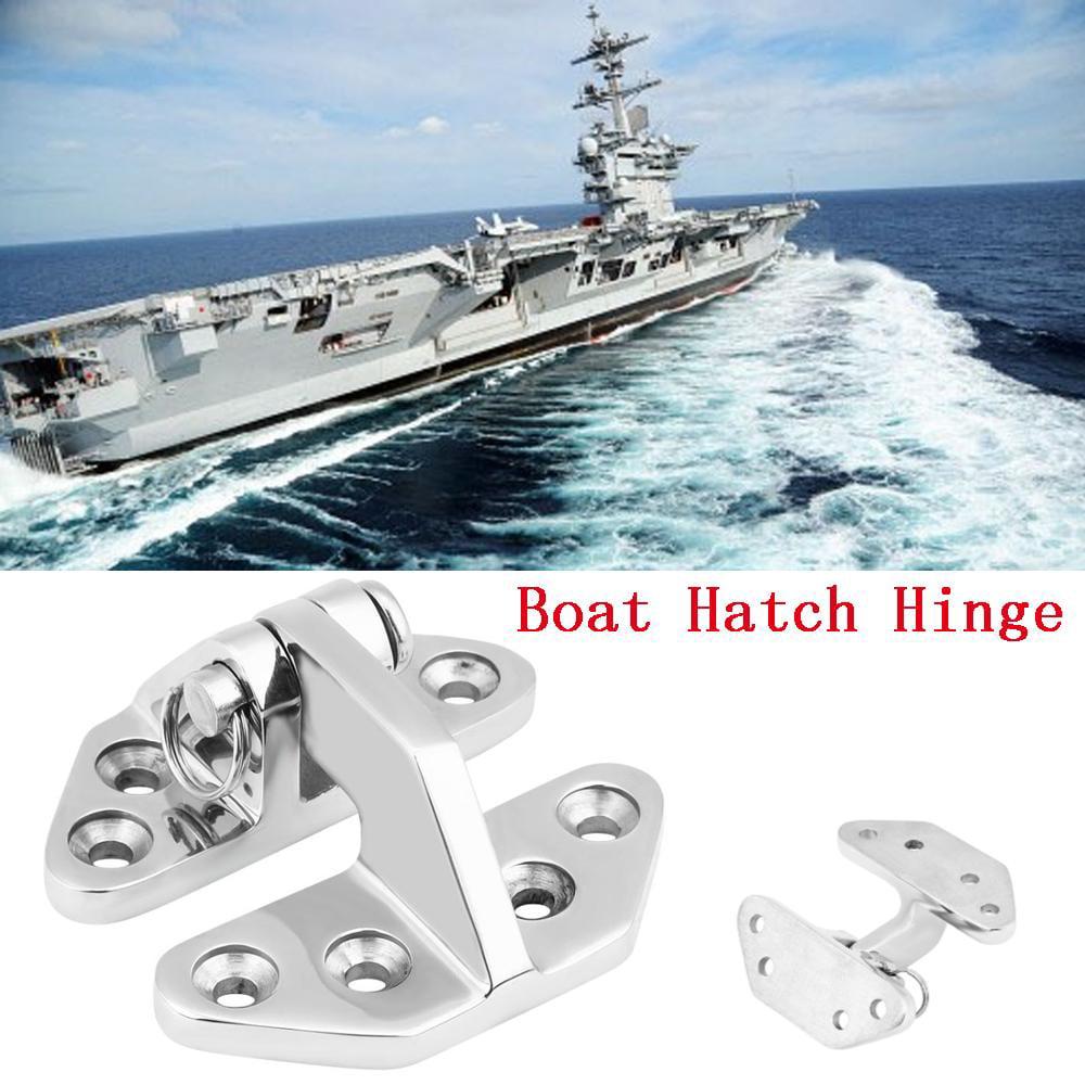 1 Pc Stainless Steel Cover Marine Boat Deck Door Hinge Hardware Industrial Heavy-Duty Hinge