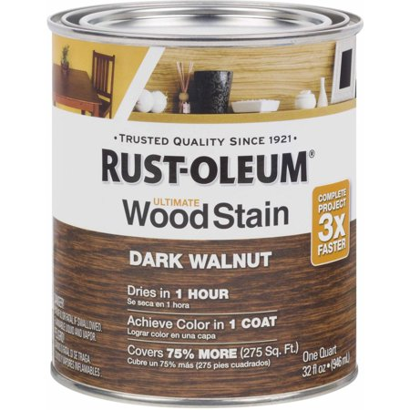 Dark Mahogany Stain - Rust-Oleum Ultimate Wood Stain Quart, Dark Walnut