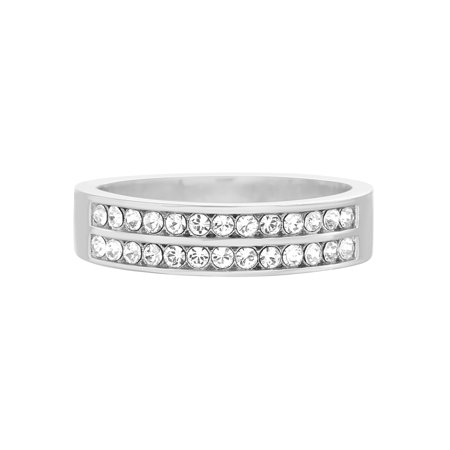 Faceted Crystal Band Ring made with Swarovski Crystals (Swarovski Crystal Adjustable Ring)