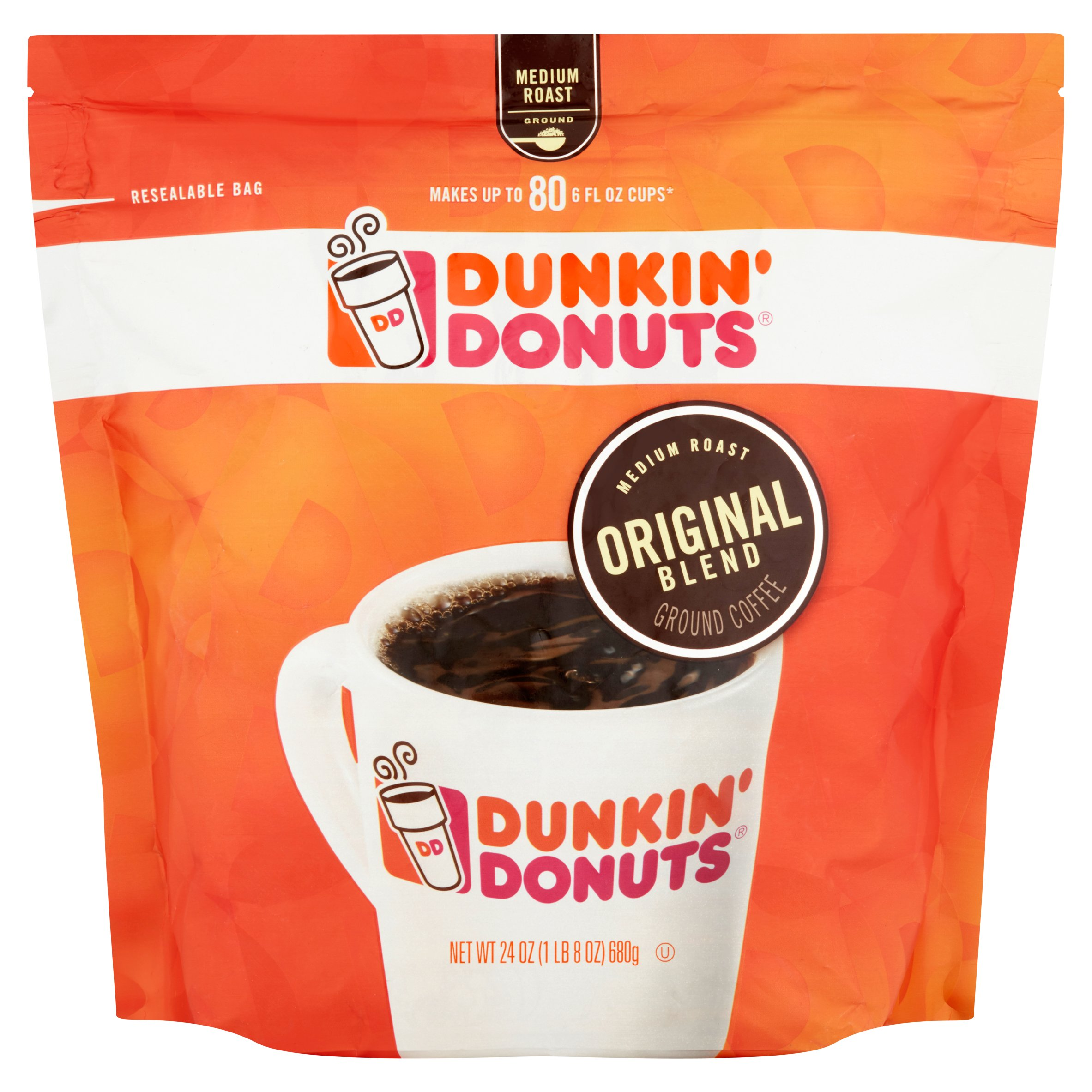 Dunkin' Donuts Original Blend Medium Roast Ground Coffee, 24 oz
