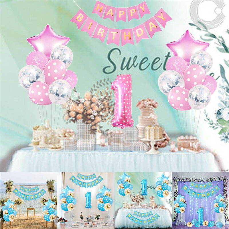 Age 16 Girl Foil Birthday Party Banner Pink /& Silver Stars 16 Happy Birthday