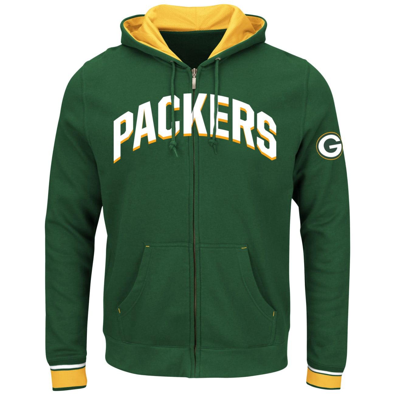 "Green Bay Packers Majestic NFL ""Anchor Point 2"" Men's Full Zip Hooded Sweatshirt"