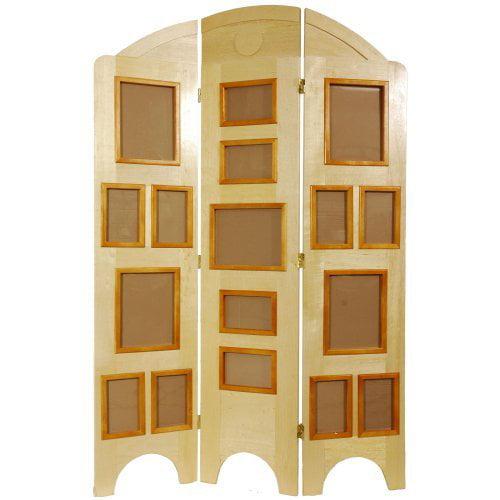 Oriental Furniture Arc Top Photo Screen Room Divider