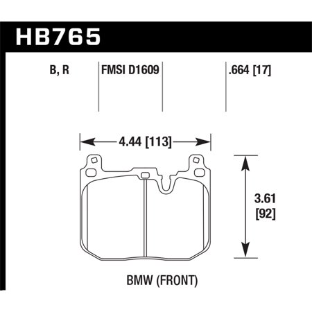 Hawk 14-15 BMW 228i/Xi HPS 5.0 Front Brake Pads