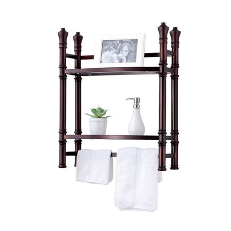 Best Living, Inc. Monaco Small Etagere Wall Mount, Oil Rubbed