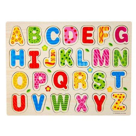 New Amusing a set 26pcs Wood Alphabet English Letters Puzzle Jigsaw Educational Toy