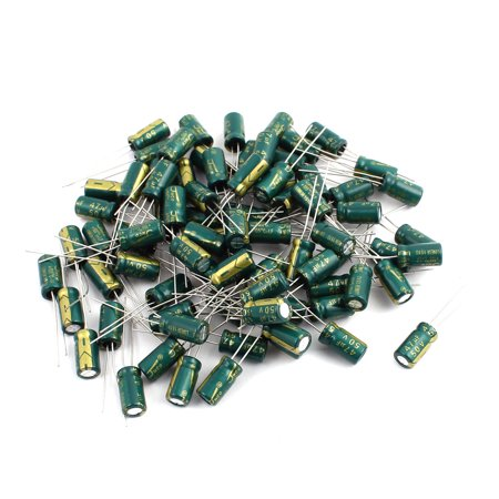 80Pcs 50V 47UF Aluminum Electrolytic Capacitors 105 degree Celsius 6.3x12mm 47uf Radial Electrolytic Capacitor