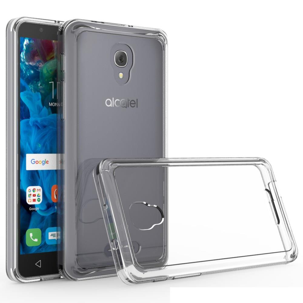 "Alcatel Fierce 4 Case / Alcatel Pop 4+ (5.5"") Case / Alcatel One Touch Allura Case - Armatus Gear (TM) Ultra Slim Acrylic Clear Case with TPU Grip Bumper Hybrid Phone Cover"