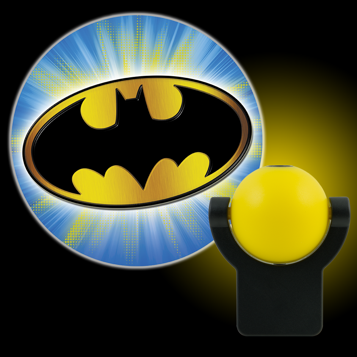 Projectables DC Comics Batman LED Plug-In Night Light, Bat Signal, 14536