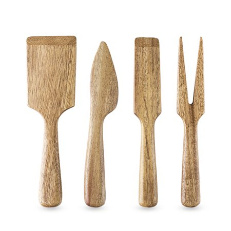 Wood Cheese Set - Country Home: Acacia Wood Cheese Set by Twine