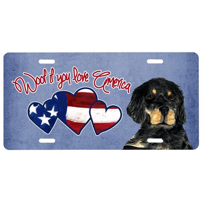 Carolines Treasures SS5026LP Woof If You Love America Gordon Setter License Plate