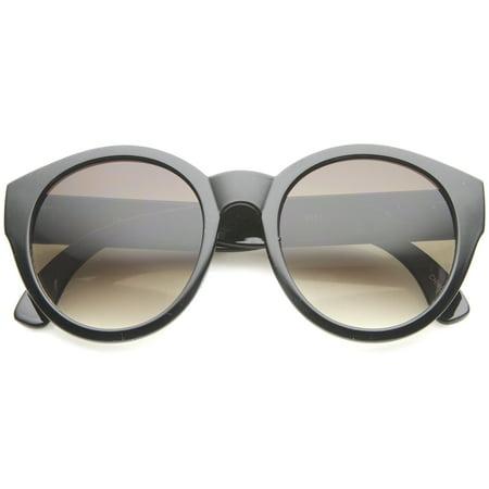 sunglassLA - Bohemian Native Print Bead Accents Gradient Lens Round Cat Eye Sunglasses - (Discount Native Sunglasses)