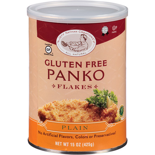 Jeff Nathan Creations Plain Gluten Free Panko Flakes, 15 oz, (Pack of 12)