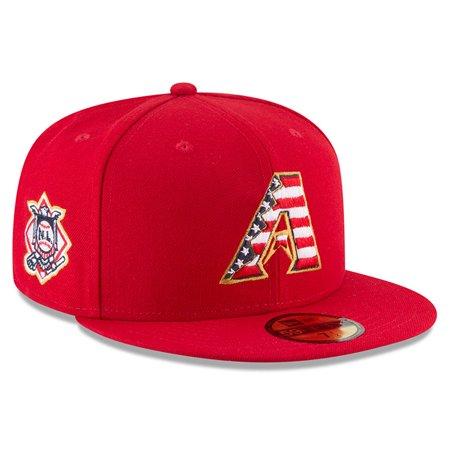 Arizona Diamondbacks New Era 2018 Stars & Stripes 4th of July On-Field 59FIFTY Fitted Hat - Red