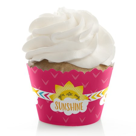 You Are My Sunshine - Baby Shower or Birthday Party Cupcake Wrappers - Set of 12 (You Are My Sunshine Baby Shower Decorations)
