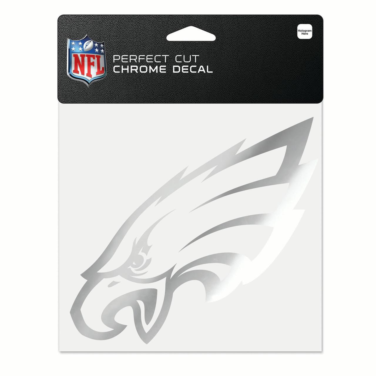 "Philadelphia Eagles WinCraft 6"" x 6"" Chrome Decal - No Size"