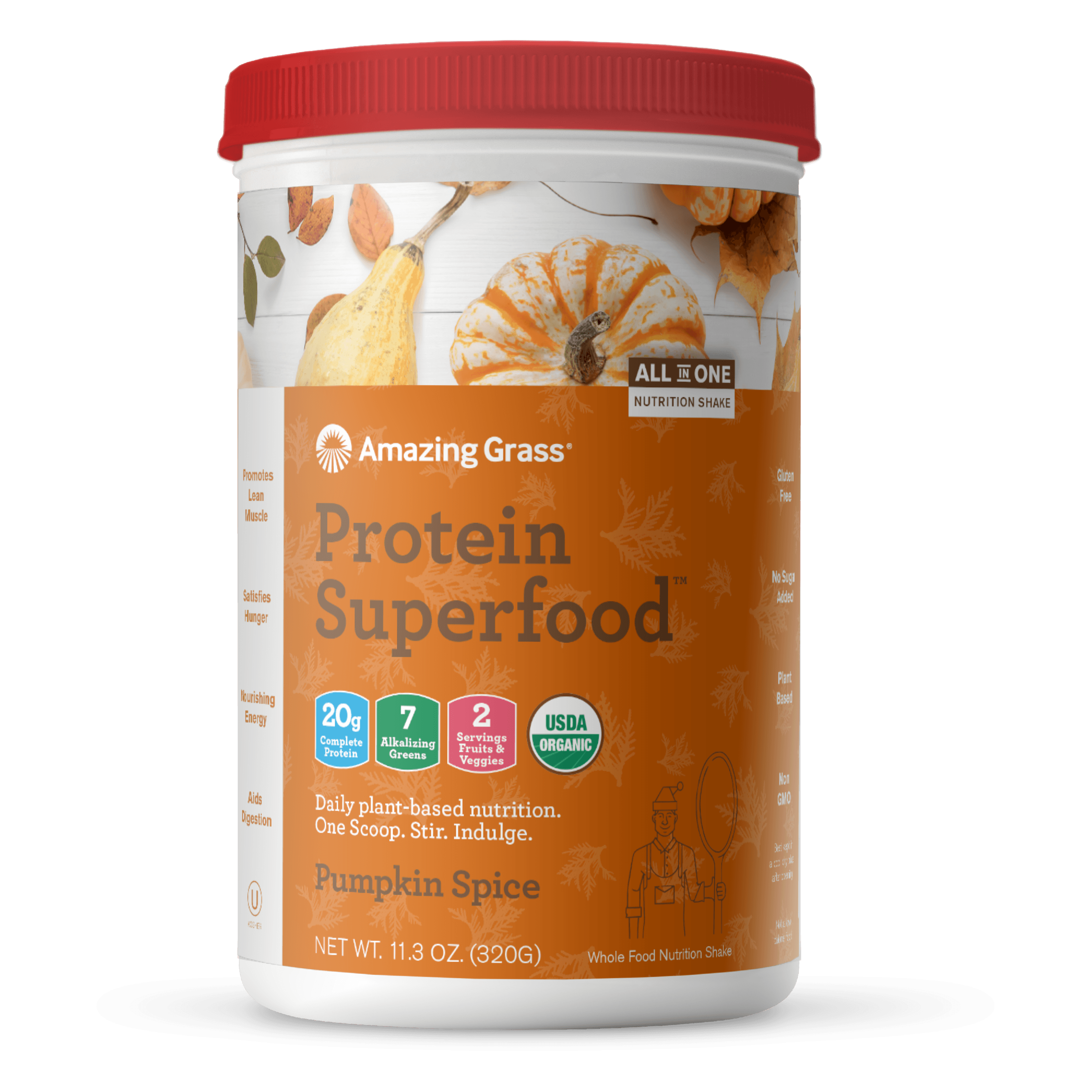 Amazing Grass Protein Superfood, Pumpkin Spice, 10 Servings