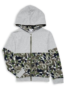Little Boy's Camouflage Cotton Blend Hoodie