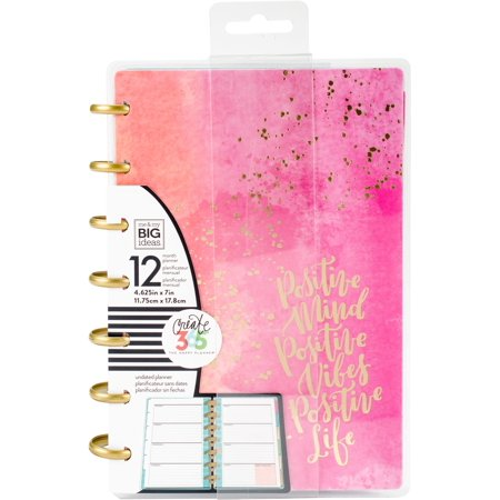 Mini Day Planner (Happy Planner 12-Month Undated Mini Planner 5.125