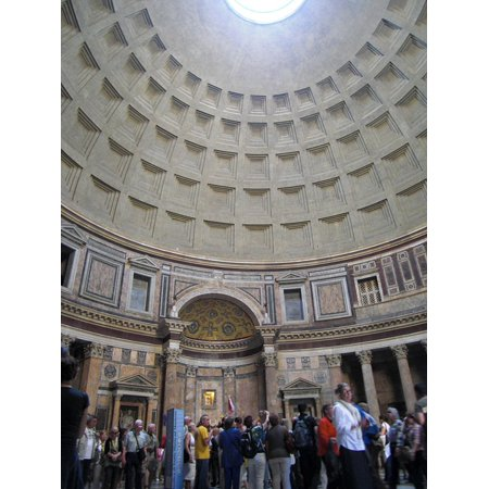 Canvas Print Italy Dome Building Church Rome Pantheon Temple Stretched Canvas 10 x 14