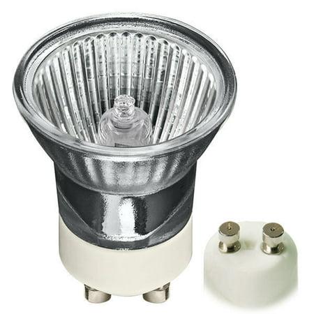 120 Volt 4 Light Chain - Halco 107546 - 35 Watt Halogen Light Bulb - MR11 - GU10 Base - Flood - Glass Face - 2,000 Life Hours - 120 Volt