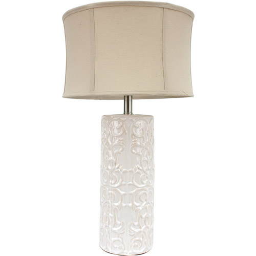 26 Cream Ceramic Table Lamp Walmart Com