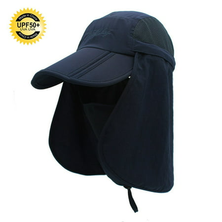 cb1be35f6ee Sun Caps Flap Fishing Hats 360° Solar Protection UPF 50+ Sun Cap With