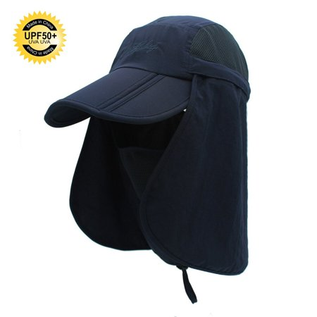 ffa070ee37f55 Sun Caps Flap Fishing Hats 360° Solar Protection UPF 50+ Sun Cap With