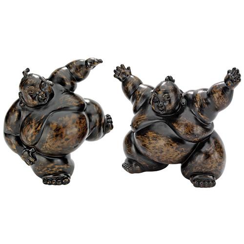 Design Toscano 2 Piece Full Contact Sumo Wrestler Statues by Design Toscano