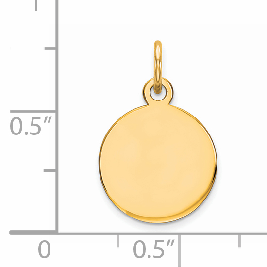925 Sterling Silver Gp Engraveable Round Disc Pendant Charm Necklace Engravable Plain Fine Jewelry Gifts For Women For Her - image 1 of 2